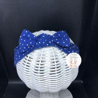 Preloved Simple Bow Small Polkadot Blue (Brand: H&M Kids ORIGINAL)