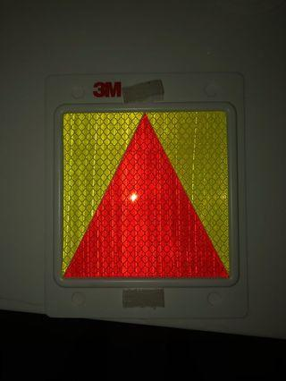 Probationary triangle plate