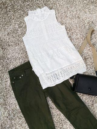 Lace top+pants set
