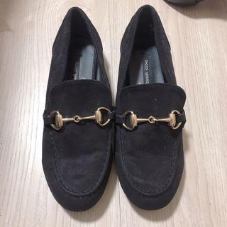 韓店購入 平底鞋 麂皮 24 全新 含運出清