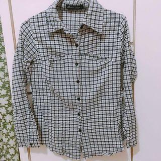 Queen shop格紋襯衫