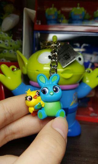 全家集點 玩心總動員 蛋擊公仔鑰匙圈 toy story 4 鴨霸兔崽子 迪士尼 皮克斯 玩具總動員