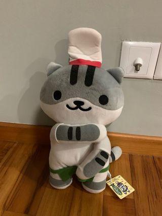 neko atsume chef cat guy furry stuffed toy