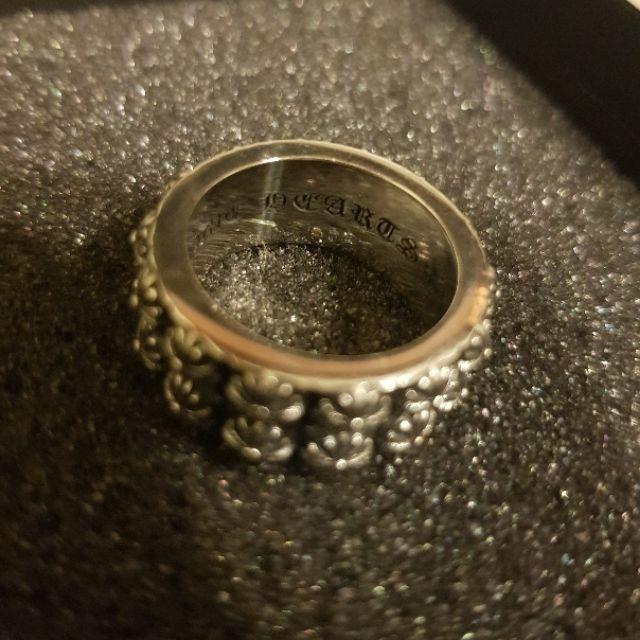 訂製版實拍 Chrome Hearts風雙排十字純銀戒指 (19mm)