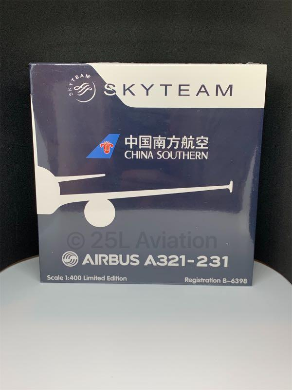 """[ HYJL Wings 1:400 ]   中國南方航空 China Southern Airlines A321-231 B-6398 """"SKYTEAM"""""""