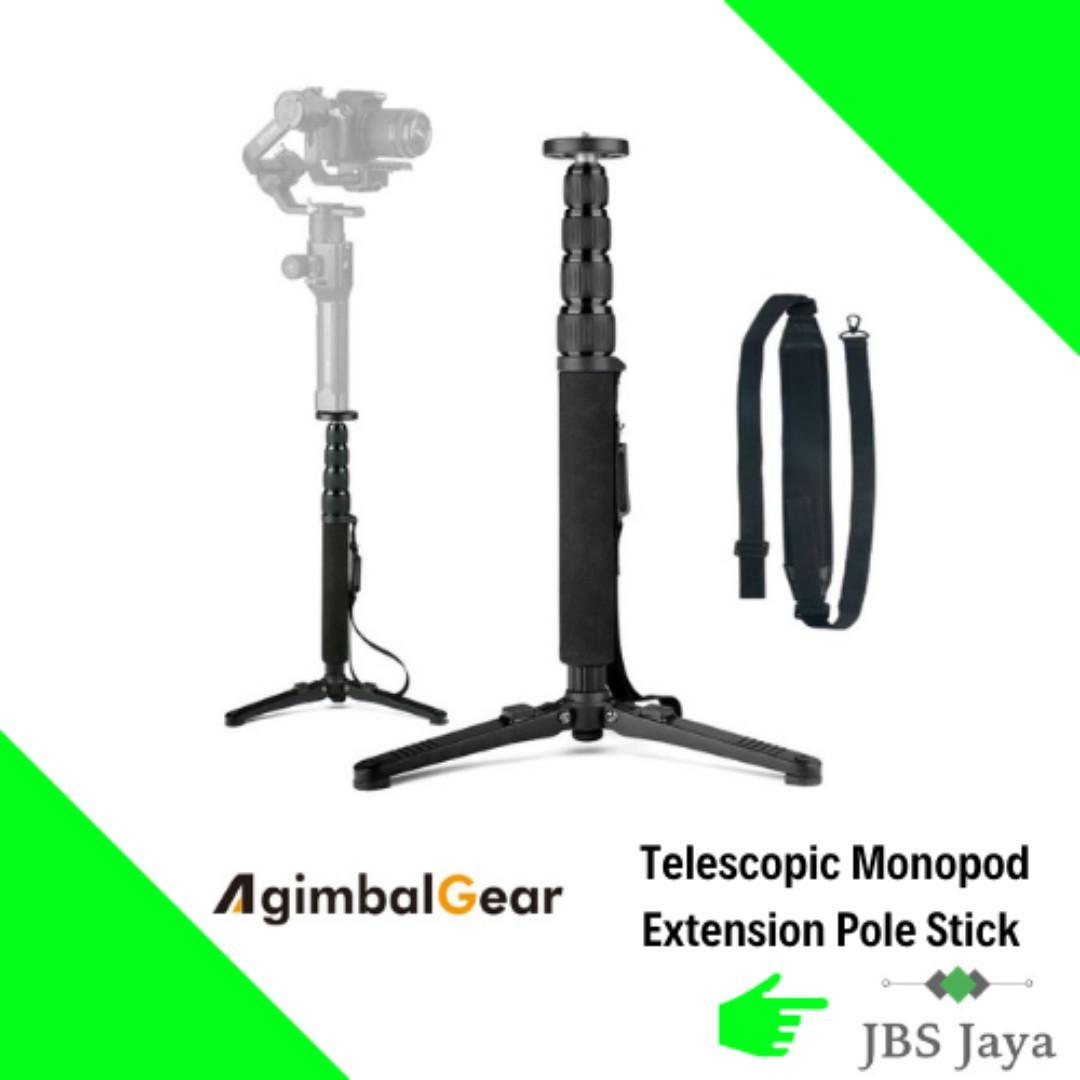 AgimbalGear Telescopic Monopod Extension Pole Stick for DJI Ronin S/Zhiyun Crane 2/Smooth 4/Feiyu AK2000 Stabilizers
