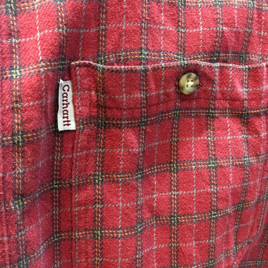 Carhartt 紅色格紋襯衫(#646)