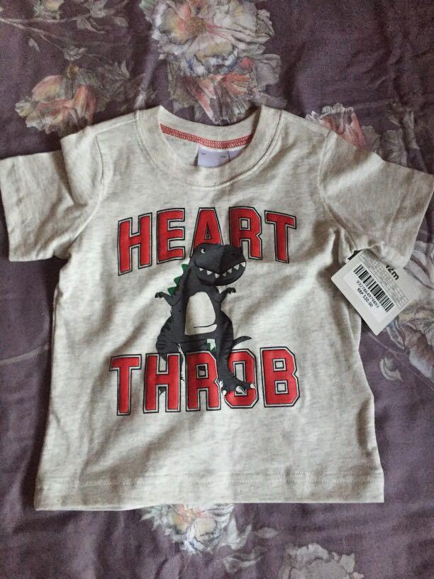 BNWT Carter's Heart Throb t-shirt size 1