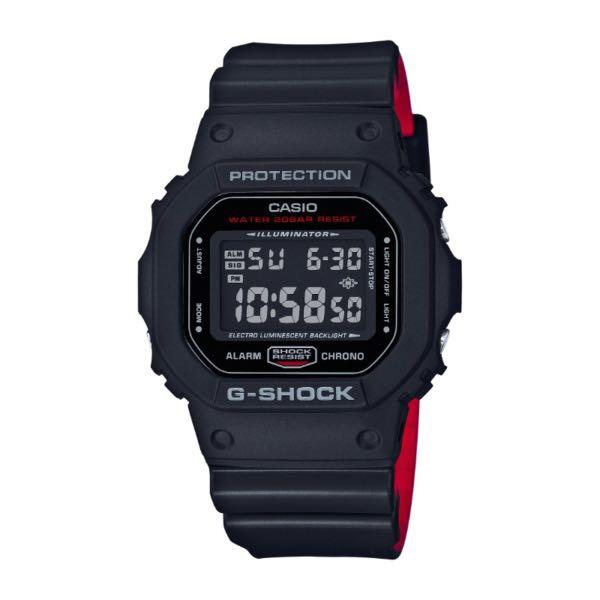 (12.12 SALE) Casio G SHOCK Digital Black x Red Heritage Color Series (original price $169)