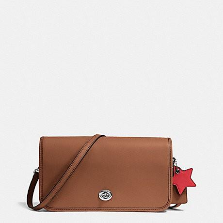 Coach Brown TURNLOCK CROSSBODY/shoulder bag in GLOVETANNED LEATHER