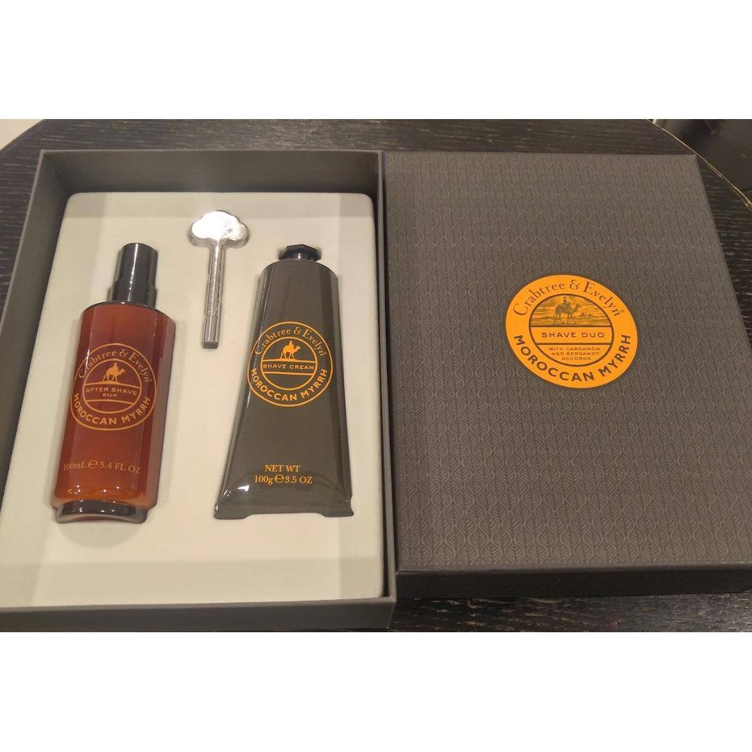 Crabtree & Evelyn Men's Moroccan Myrrh Duo 剃鬚膏 鬚後水
