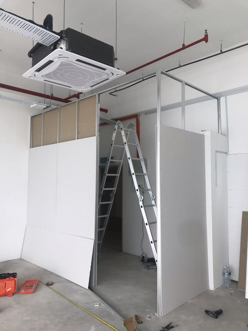 Drywall Gypsum Board Office Wall Painting Works