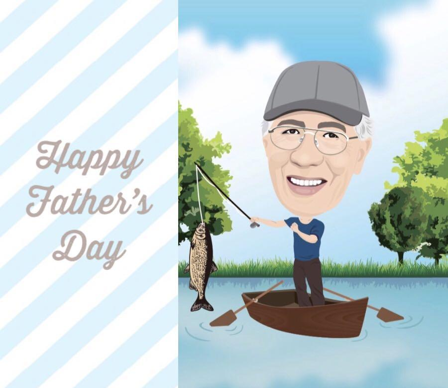 Father's Day birthday Christmas gift custom caricatures