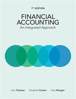 Financial Accounting 7th edition textbook Carson trotman morgan