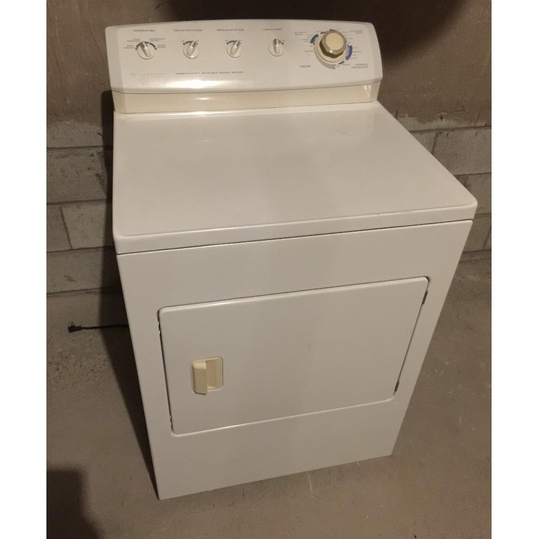 Frigidaire Front-Load Gas Dryer and Whirlpool Front-Load Washer