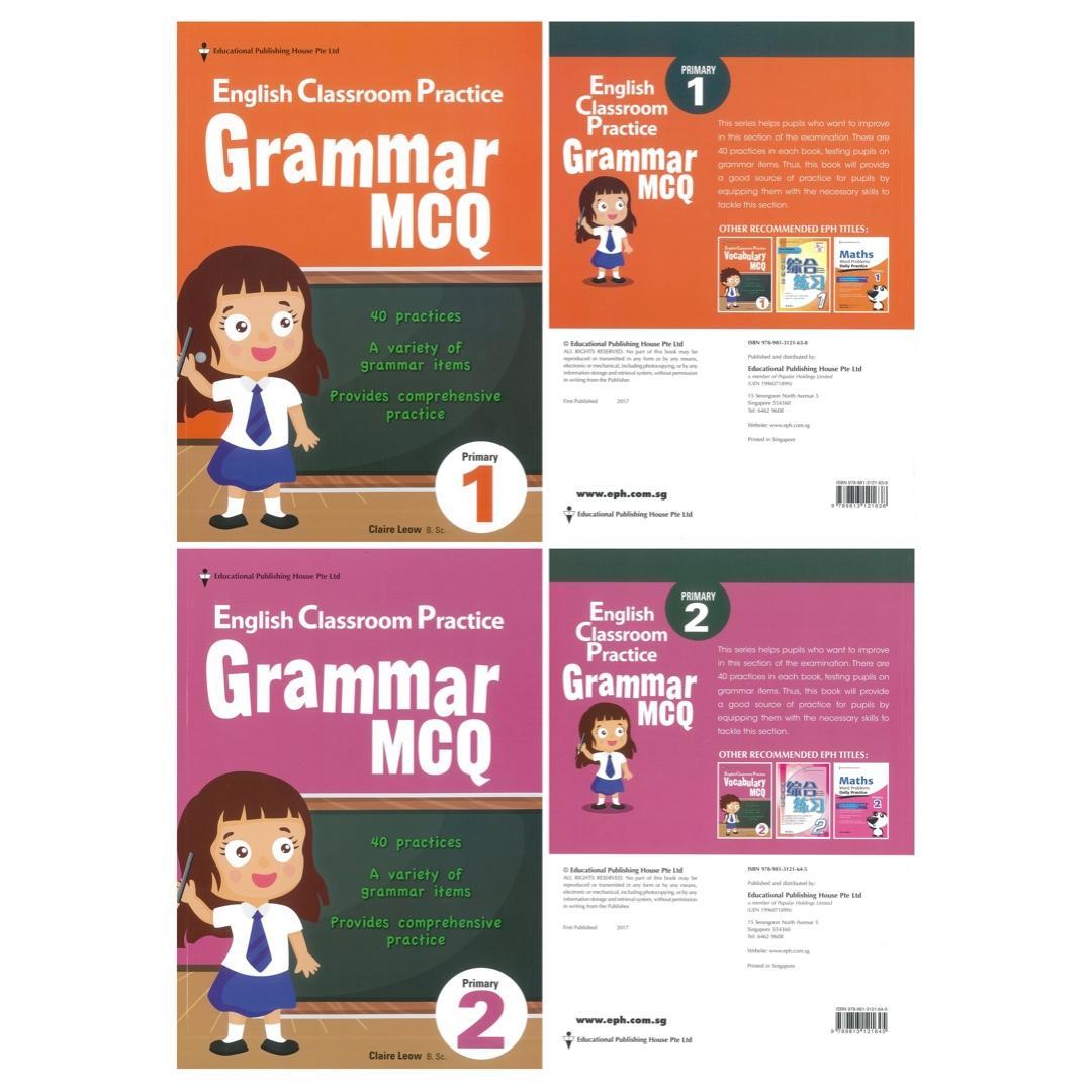 Grammar MCQ Primary English Classroom Practice, Books