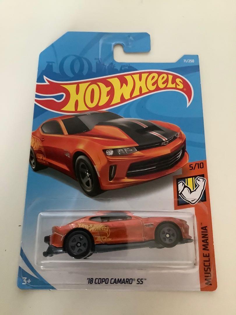 Hot wheels 2018 Chevrolet copo camaro collectible diecast car