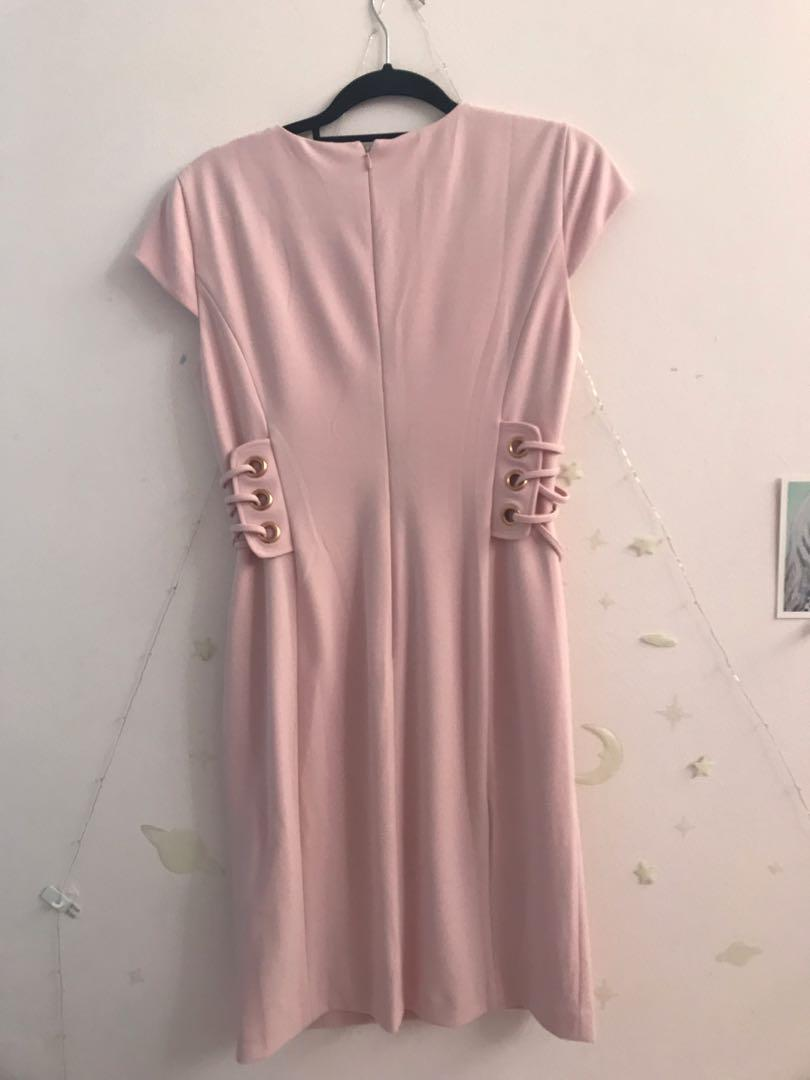 Ivanka Trump Pink Dress with Side Lacing