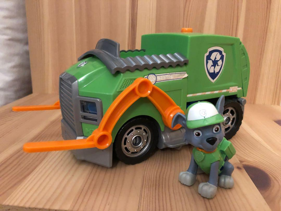 Paw Patrol Rocky Recycling Truck Deluxe Version Toys Games Bricks Figurines On Carousell