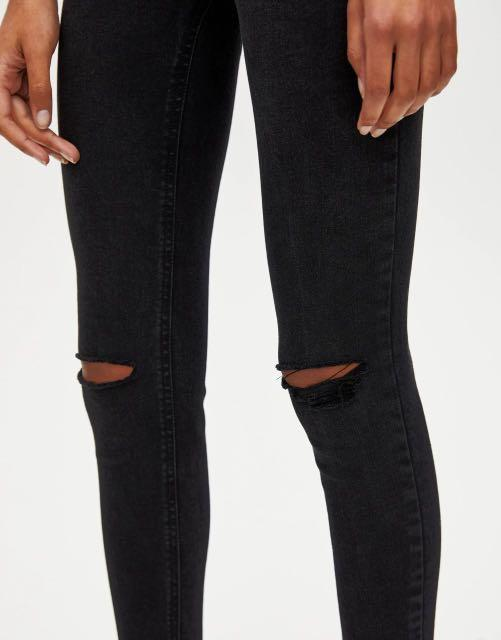 P&B High waist skinny capri jeans