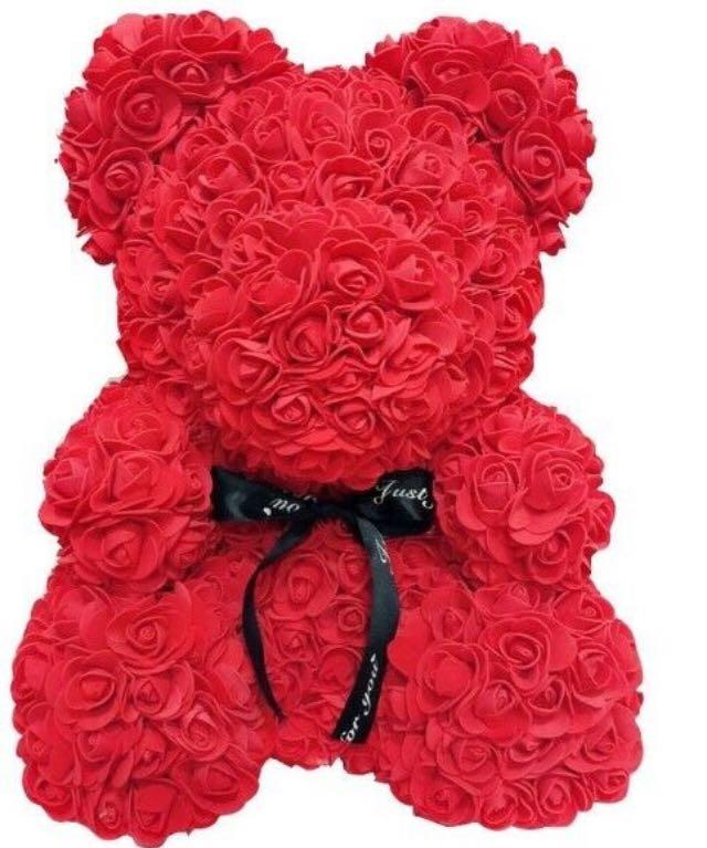 Red Rose Teddy Bear, Birthday Gift, Anniversary, Wedding 25 cm