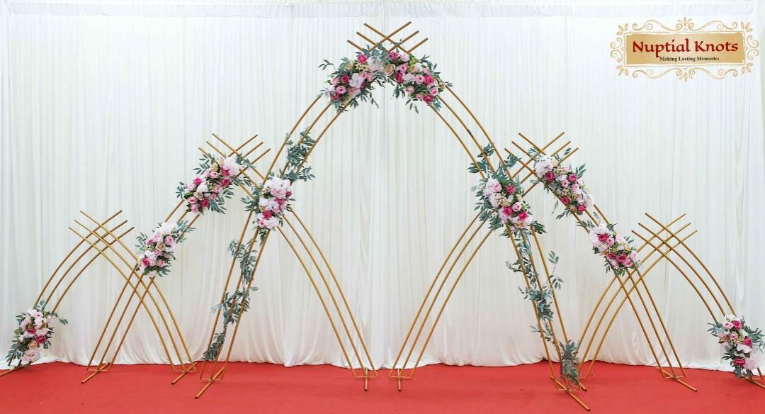 Rental of wedding arch, solemnization arch,  ROM backdrop,  flower arch