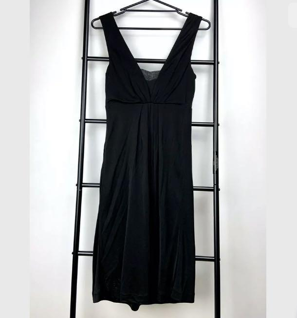 Saba 8 black long dress party smart casual cocktail silk blend date night