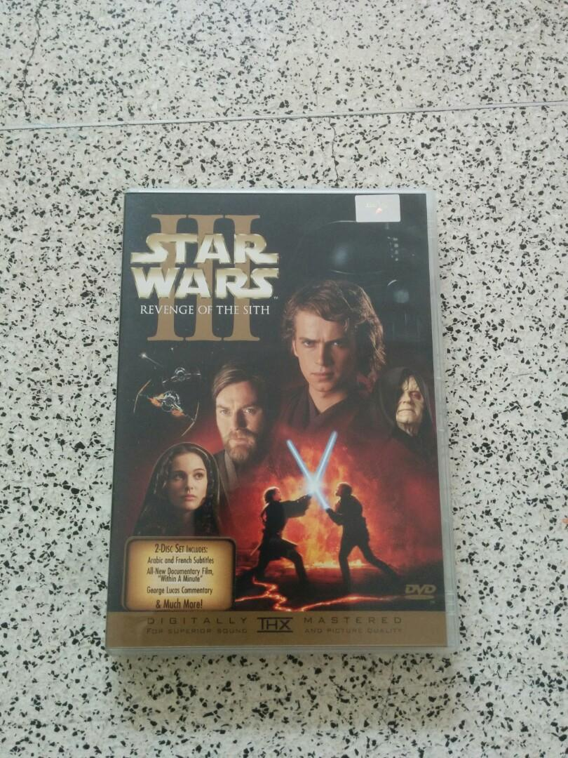 Star Wars Revenge Of The Sith 3 2 Dvd Movies C Music Media Cds Dvds Other Media On Carousell
