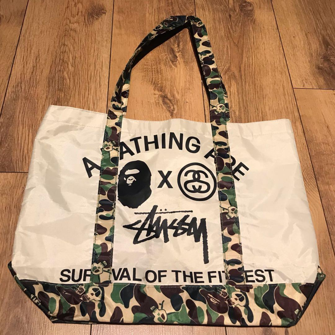 Stussy x A Bathing Ape Tote bag