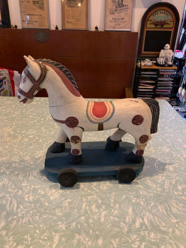 Wooden horse. Hand painted