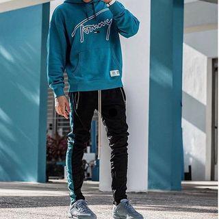 Mnml track pants 運動褲 Tiffany 黑綠 全新M S L 數量很少