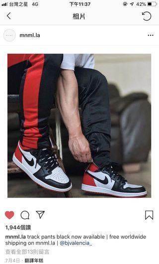 Mnml track pants 運動褲 red 全新 S M L 數量很少