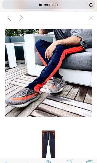 Mnml track pants 運動褲 藍紅全新M數量很少 還有藍橘XS