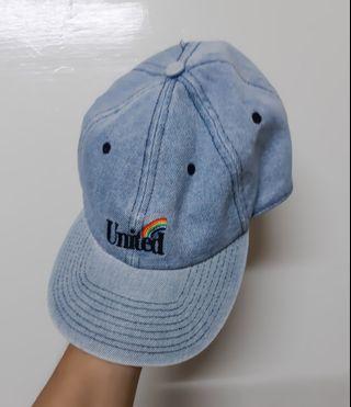Regalo私物∣H&M 彩虹刺繡United 牛仔鴨舌帽 cap