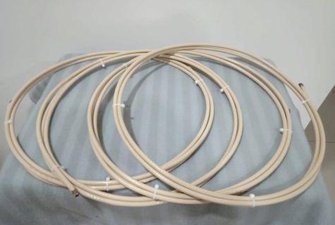 Van Den Hul SCS-6 6-gauge Silver Clad Speaker Cables - 8 feet pair