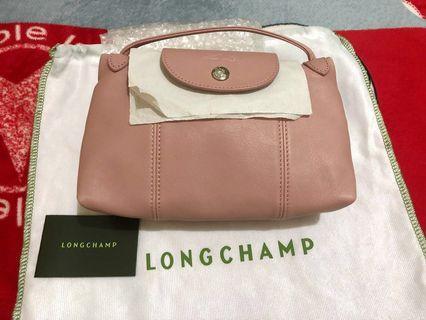 Longchamp小羊皮斜背袋(郵差包)