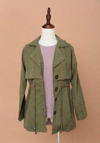 MISSLILYSHOP Army Green Jacket  ❤️