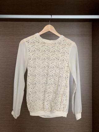 Size S White Lace Top