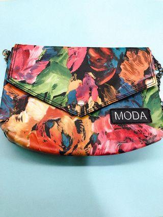 MODA銀鍊側背小包
