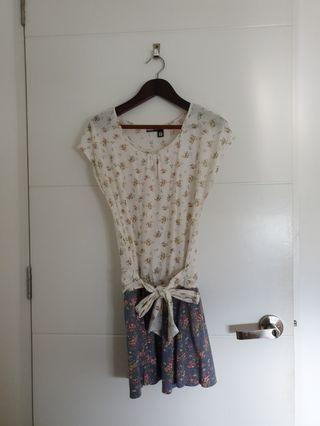 Floral Low Hip dress