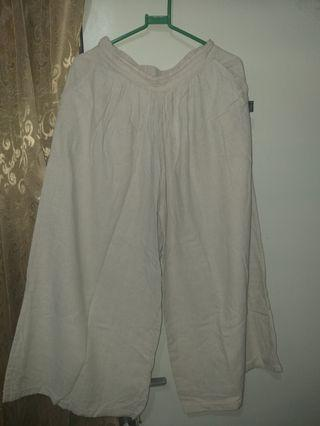 Celana Kulot warna krem