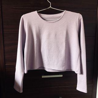 PULLOVER CROPPED TOP - Lavender