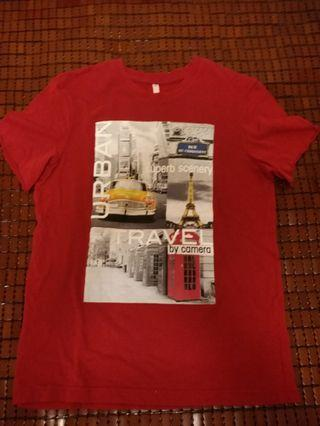 Net紅色t恤