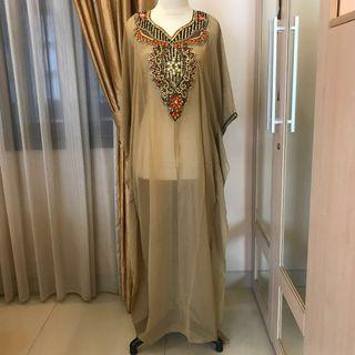 Kaftan India Gold Mewah