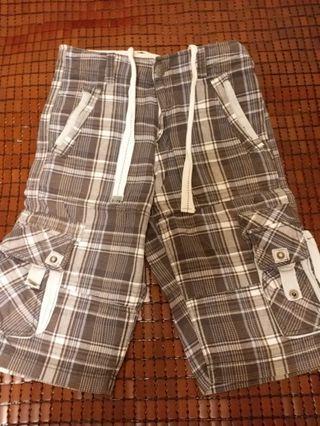 Casual wear×TAI WANG聯名韓系7分格子褲