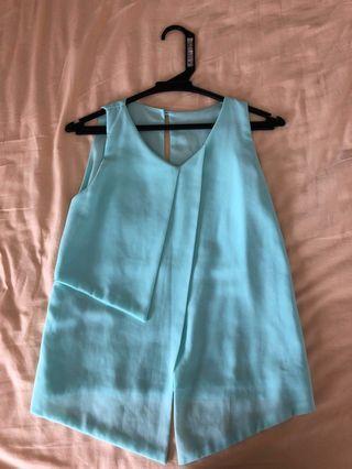 Tiffany blue sleeveless top