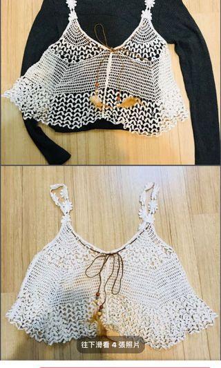 日系  蕾絲  刺繡   罩衫