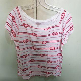 Sfera Red Nautical Printed Shirt / Top For Sale