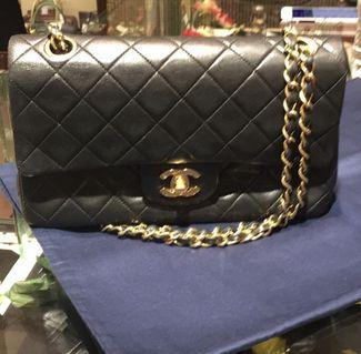 Chanel Bag - classic double flap quilted bag. With card