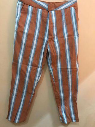 Orange Stripe pants